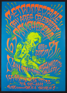 Retrospectacle Bay Area Celebrate Psychedelia Poster Original Rick Griffin