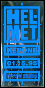 Helmet Poster Kapone the Edge Orlando 1995 Silkscreen Mirror Mylar Unusual