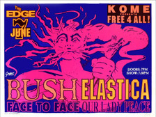 Bush Face to Face Our Lady Peace Poster the Edge San Jose 1995 Original