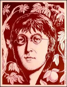 "John Lennon ""Pink & Tan Portrait"" Very Rare 1974 Beauty Collectors Features"