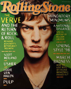 The Verve Rolling Stone Cover Poster April 1999 Eddie Van Halen Thin paper