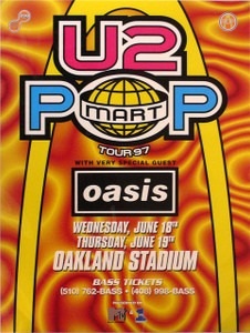 U2, Oasis Pop Mart Tour '97 Oakland Stadium, 6/18