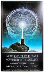Art of the Dead Grateful Dead Art Show Poster Artrock Gallery Mustafa Muwwakkil 1991