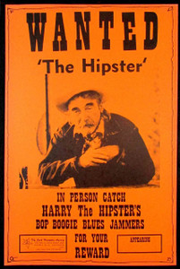 "Harry ""the Hipster"" Gibson Tour Poster 1970s Boxing Style Heavy Card Stock MINT"