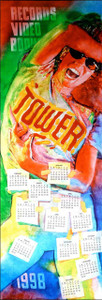 Tower Records Original 1st Printing Calendar 1998 Body Painter by Jerald Silva