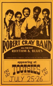 Early Robert Cray Flyer Original Concert Handbill Tootsies Sacramento 1980 MINT