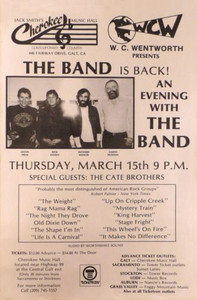 The Band Poster Jack Smith's Cherokee Music Hall 1984 Very Rare Ships FREE!