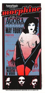 Morphine Original Poster Handbill Agora Theater Cleveland 1996 Mark Arminski NM