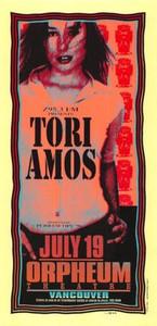 Tori Amos Original Poster Handbill Orpheum Vancouver 1996 Mark Arminski NM