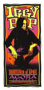 Iggy Pop Original Poster Handbill Agora Theater Cleveland 1996 Mark Arminski NM