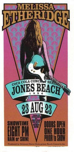 Melissa Etheridge Original Poster Handibll Jones Beach Mark Arminski Handbill NM