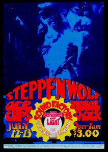 STEPPENWOLF 1968 Sound Factory Original First Printing Poster Handbill