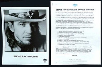 STEVIE RAY VAUGHAN Original Vintage 1995 Press Kit w 8x10 Photo Greatest Hits