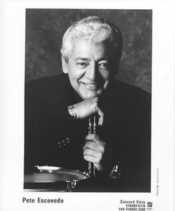 PETE ESCOVEDO Percussionist Original Vintage 8 x 10 Press Kit Photo Santana