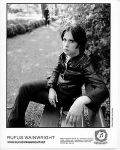 Rufus Wainwright Original Vintage Dreamworks Records 8x10 b&w Photo Ken Shcles
