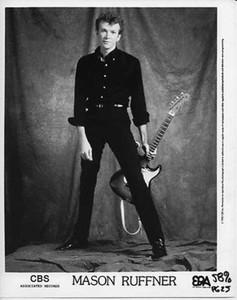 Mason Ruffner Original Mint Vintage CBS Records 8x10 b&w Press Photo