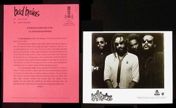 BAD BRAINS Original 1995 Maverick Records Press Kit w 8x10 Photo God of Love