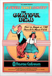 Grateful Dead 1973 Nassau Poster Full Size Artist Edition Hand Signed David Byrd