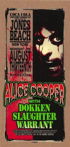 Alice Cooper Dokken Original Poster Handbill Jones Beach 1997 Mark Arminski NM