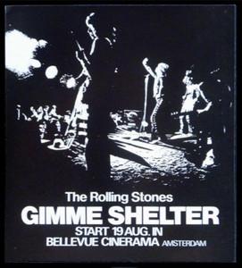 Rolling Stones Handbill for 1970 Gimme Shelter Movie Premier in Amsterdam