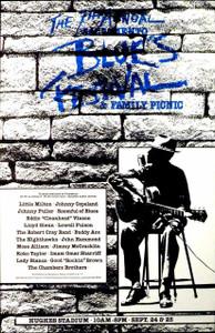 7th Sacramento Blues Festival Poster Little Milton John Mayall Koko Taylor 1983