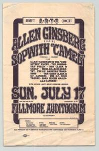 AOR 2.75 Fillmore Handbill Original 1966 Printing Allen Ginsberg by Wes Wilson