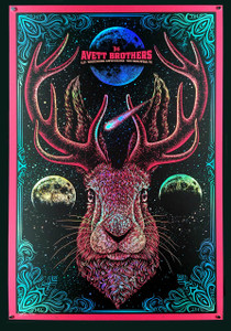 Avett Brothers Poster 2017 Whitewater Texas Holofoil Ed #6 of 40 S/N Todd Slater