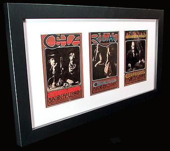 Rick Griffin FRAMED Charlatans Tryptich Handbill Set Original 1967 FD 63, 67, 71