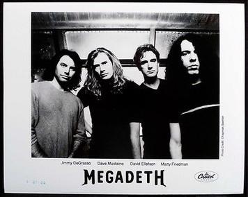 Megadeth Press Kit Photo Capitol Punishment 2000 MINT