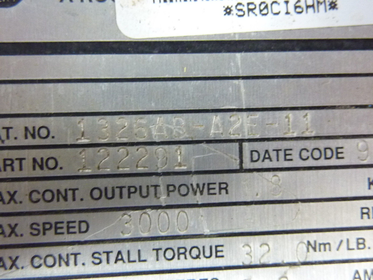 Allen Bradley 1326ab A2e 11 Ac Servo Motor 5 7a 3000rpm