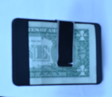 Wallet With Chrome Money Clip in Black Leather