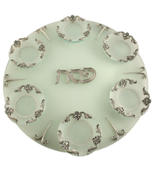 Seder Plate Simplicity Glass and Metal By Quest Gift Design