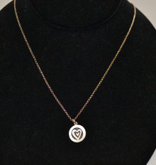 Sterling Silver Heart Necklace by Emily Rosenfeld