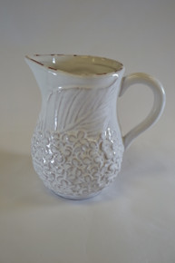 White Pitcher with Hostess Napkins