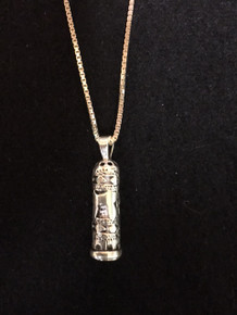"Sterling Silver 1"" Mezuzah Necklace"