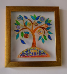 Framed Tree of Life Art By Daniel Azoulay