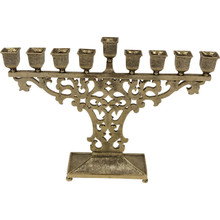 Menorah by Quest Brass Finish Florentine Style
