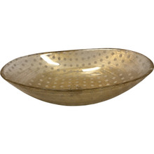 Gold Polka Dot Glass Bowl By Vietri