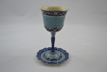 Blue Cup With Saucer (QGD0060)