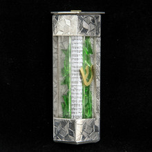 Mezuzah For Wedding Shards Metal and Glass In Sanded Finish By Joy Stember