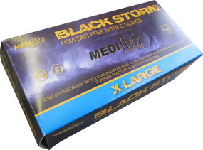 NITRILE Black Storm Powder Free Gloves