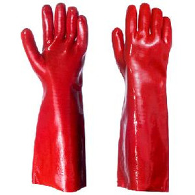 PVC Red Dipped Gloves