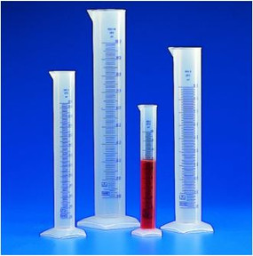 Kartell Blue Graduation Tall Form Measuring Cylinder