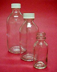Clear Round Bottles