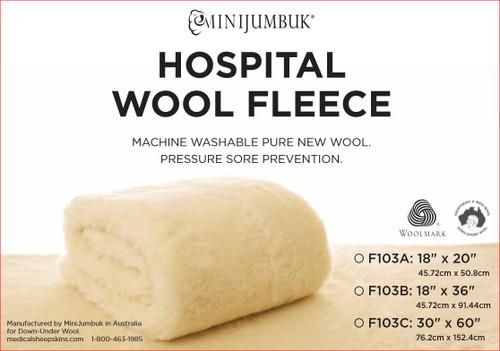 Hospital Wool Fleece Wheelchair Seat Pad: F103A