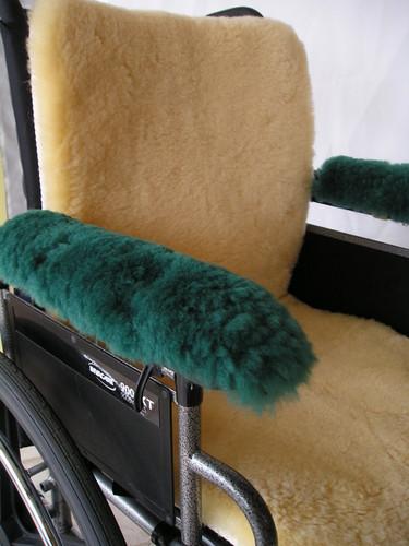 M125G: Sheepskin Wheelchair Arm Pads: