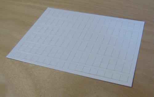 """.6"""" counters 176 per sheet"""