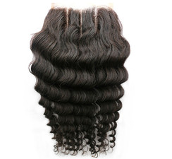 Brazilian Deep Wave 3 Part Lace Closure