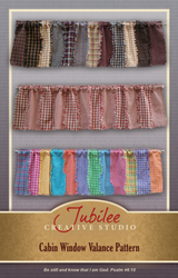 Cabin Homespun Window Valance Pattern - DIGITAL