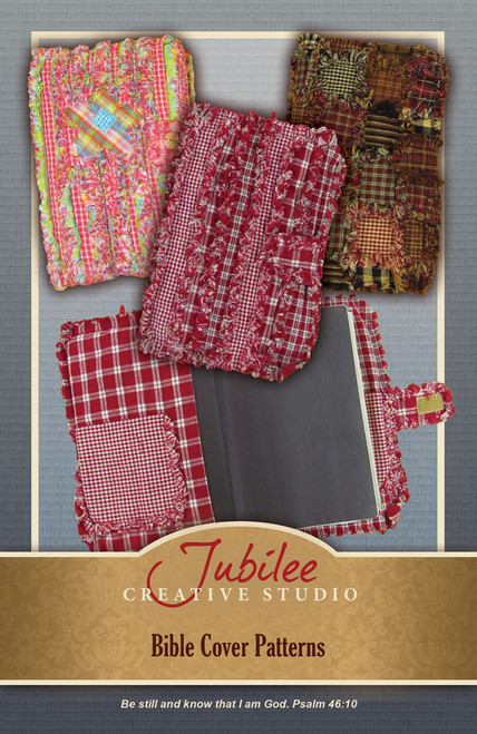 Fabric Book Jacket Pattern : Ragged homespun bible book cover pattern digital